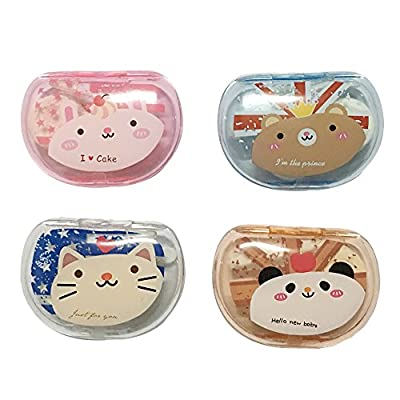 PETMALL 1PCS New Cartoon Cute Animal Image Travel Glasses Contact Lenses Box Contact lens Case for Eyes Care Kit Holder Container Gift OFFICE-563