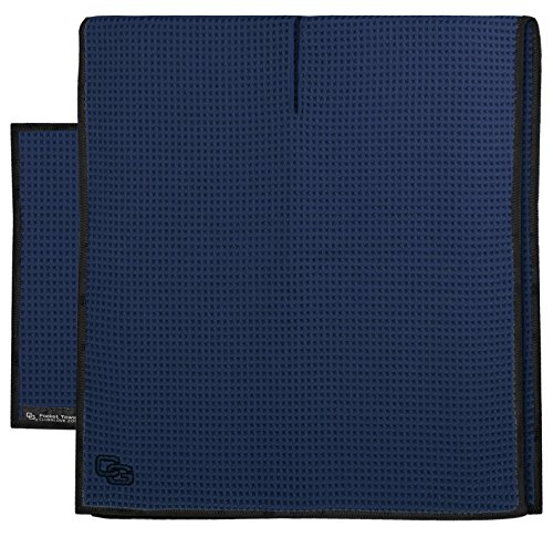 Golf Den Caddy (Club Glove Golf Microfiber Caddy and Pocket Towel Set (Navy))