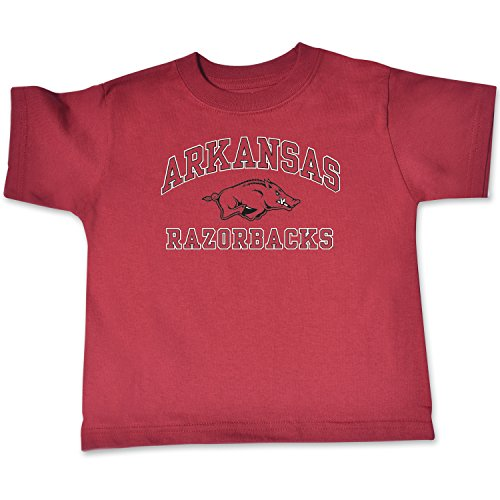 NCAA Arkansas Razorbacks Toddler Short Sleeve Tee, 4 Toddler, Cardinal