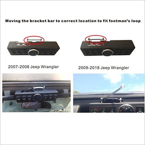 Apollointech Jeep Wrangler JK /& JKU 2007-2018 Overhead 6-Switch Panel Red Light