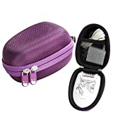 Philips Epilator Satinelle - Fits Philips HP6401 Satinelle Epilator Electric Shaver Travel EVA Hard Protective Case Carrying Pouch Cover Bag Purple By Hermitshell