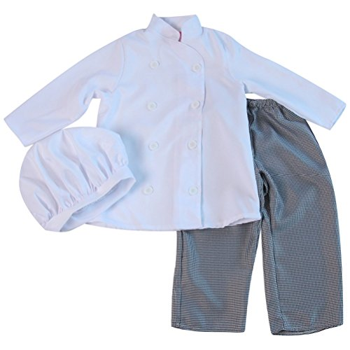 Kids Chef Jacket & Hat or Houndstooth Pants (6/8, Chef Jacket & Hat + Houndstooth Pants)
