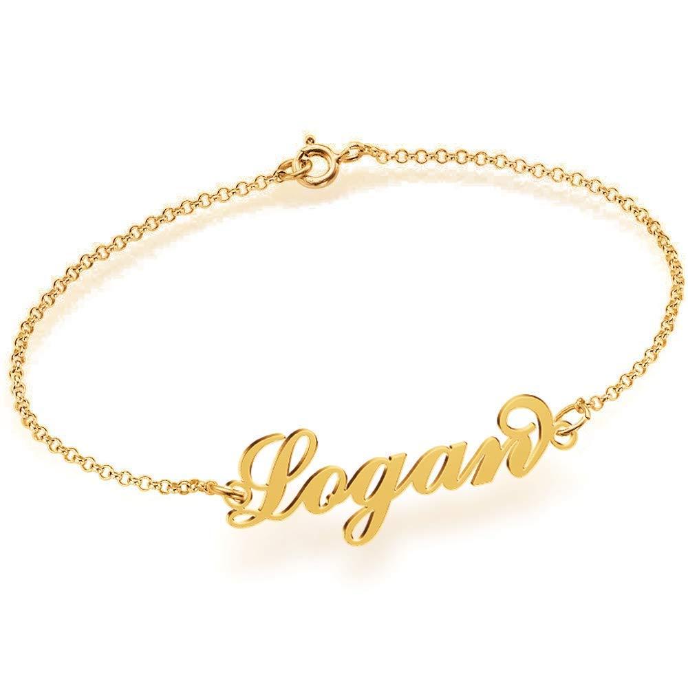 925 Silber Namensarmband Fußband - Armband mit Namen Personalisiert mit Ihrem  eigenen Wunschnamen größeres Bild 095114508b