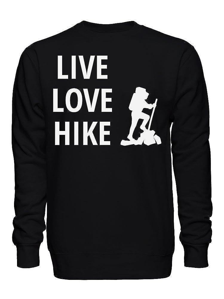 Live Love Hike Unisex Crew Neck Sweatshirt