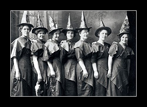 Halloween 1910 Movie (8 x 10 All Wood Framed Photo Halloween Witches)