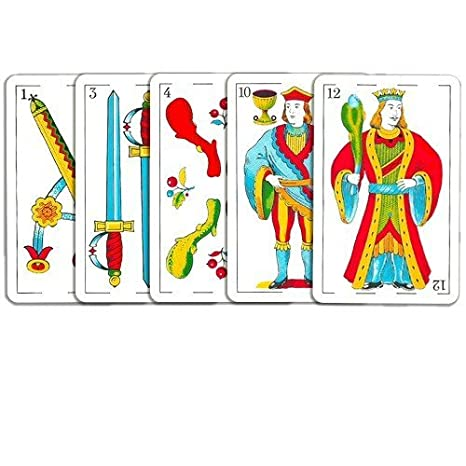Copag Spanish Playing Cards - Red Deck - Bridge Size - Great to play the game Mus