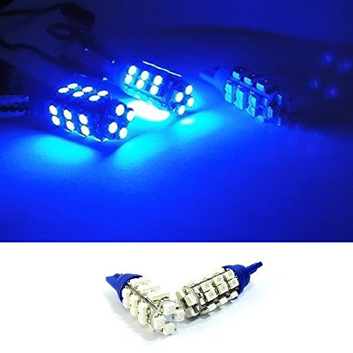 BLUE 28 SMD LED Rear Side Marker Light W5W Bulb (68 Firebird Rear Coupe)