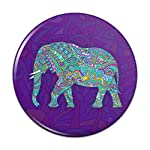 Mosaic Elephant Compact Pocket Purse Hand Cosmetic Makeup Mirror