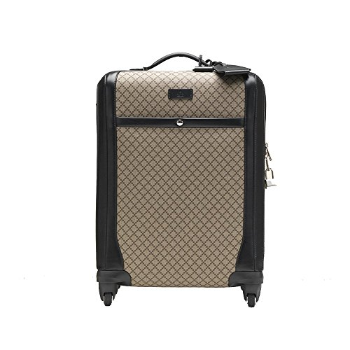 Gucci Men's Wheel Black Supreme Canvas Carry-On Suitcase Luggage 293909 by Gucci