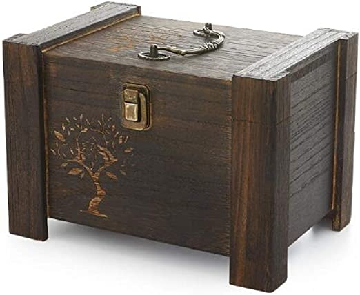 YFOZCOM Kit de Costura Caja de Costura doméstica Caja de Costurero de Madera Maciza Hecha a