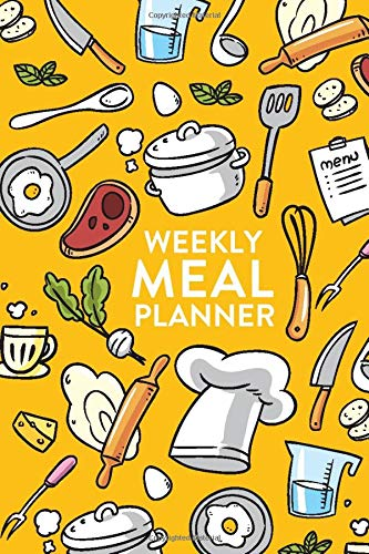 Weekly Meal Planner: With Grocery List For Family, Food Lover, Chef.  Colorful Cover Food Journal With Space For Breakfast, Lunch, Dinner &  Snacks. Meal Planner Gift for Homemaker, Cook.: Books, Healthy Habits: