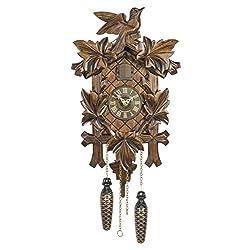 Quartz Cuckoo Clock 5-leaves, bird TU 350 Q