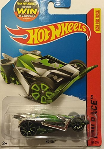 Hot Wheels, 2015 HW Race, RD-06 [Chrome/Green] Die-Cast Vehicle #160/250 (Rd Race)