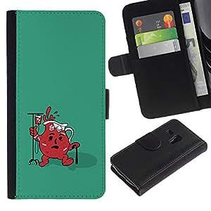 LECELL--Cuero de la tarjeta la carpeta del tirón Smartphone Slots Protección Holder For Samsung Galaxy S3 MINI 8190 -- Divertido Ayuda Jug fresca --