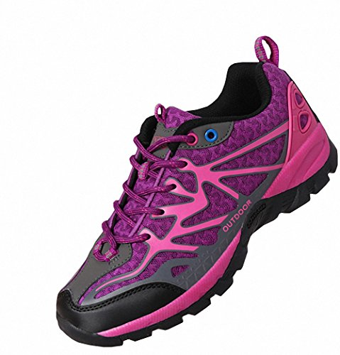 Ben Sports Lila Damen Herren Wanderhalbschuhe Wanderstiefel Traillaufschuhe Laufschuhe c0jvv
