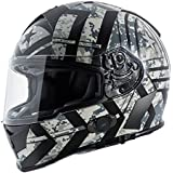 Torc T14B Blinc Loaded Force Mako Full Face Helmet (Flat Black with Graphic, Large