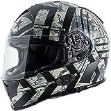 Torc T14B Blinc Loaded Force Mako Full Face Helmet (Flat Black with Graphic, Medium