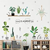 Best Wall Stickers For Bedroom Sofas - Prabahdak Potted Wall Decal Cartoon Cactus Wall Decal Review