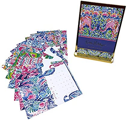 d6649ae5d1d41b Amazon.com : Lilly Pulitzer 2019 12-Month Desk Calendar with Easel ...