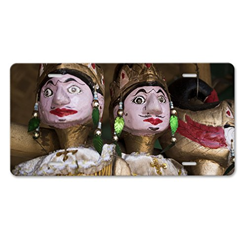Style in Print Wayang Golek Wood Puppet Car Aluminum License Plate