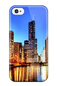 New Fashionable Donald Dickson FxyPLav8694EBlhr Cover Case Specially Made For Iphone 4/4s(chicago City ) Sending Free Screen Protector