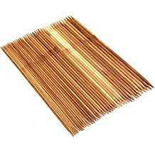 xlpace Double Point 20cm Bamboo Knitting Needles(15 Sizes From 2.0mm to 10.0mm)