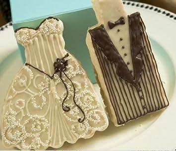Amazon.com: Cookie Wedding Favors - Fancy Bride and Groom Cookies ...
