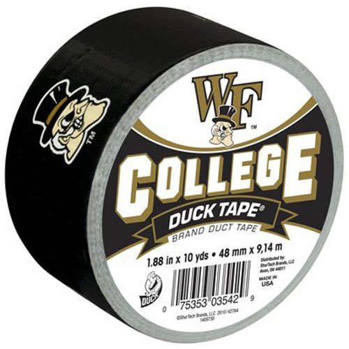 Duck Brand 240281 Wake Forest University College Logo Duct Tape, 1.88-Inch by 10 Yards, Single Roll