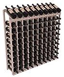 Wine Racks America Redwood 10 Column 10 Row Display Top Kit. Grey Wash Stain + Satin Finish