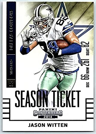 bc6bedde6 2014 Playoff Contenders Season Ticket  38 Jason Witten NM-MT Dallas Cowboys  Official NFL
