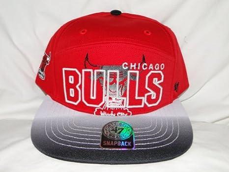 25dc2f2e1a9 Amazon.com   New! NBA Chicago Bulls 3D Logo Red Snapback   Sports ...
