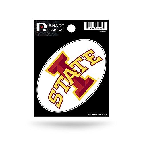 Rico Industries NCAA Iowa State Cyclones Die Cut Team Logo Short Sport Sticker ()