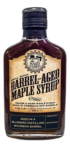 Aged Rye Bourbon - Pumpkin Spice Bourbon Barrel-Aged Maple Syrup (200 mL)