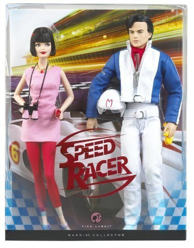 Mattel Speed Racer Barbie & Ken Doll Set Giftset