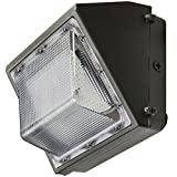 40W LED Wall Pack, 4,817 Lumens, 5000 Kelvin, UL and DLC Listed, IP65 Rated, 216,000 Long Life LEDs, 5 Year Warranty