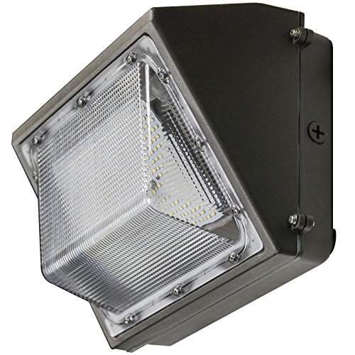 40W LED Wall Pack, 4,817 Lumens, 5000 Kelvin, UL and DLC Listed, IP65 Rated, 216,000 Long Life LEDs, 5 Year Warranty by Contractor Lighting