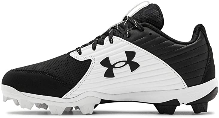 New Men/'s Under Armour Leadoff Low RM Baseball Cleats Black//White Size 8.5 M