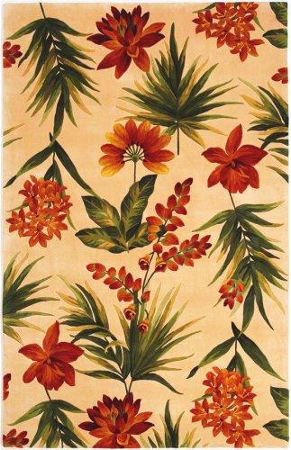 KAS Rugs 780 Catalina Tropical Flora Runner, 2-Feet 6-Inch by 8-Feet, (Floral Runners Kas Rugs)