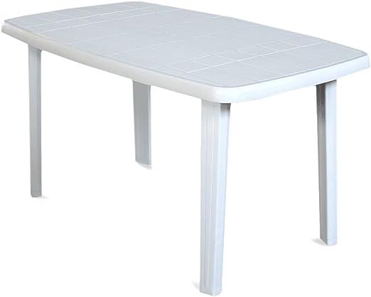 Tavoli Da Giardino In Resina Prezzi.Sorrento Tavolo Rettangolare Da Giardino In Resina Bianco Amazon
