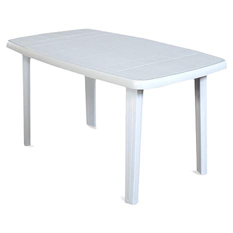 Tavolo In Resina Bianco.Sorrento Tavolo Rettangolare Da Giardino In Resina Bianco