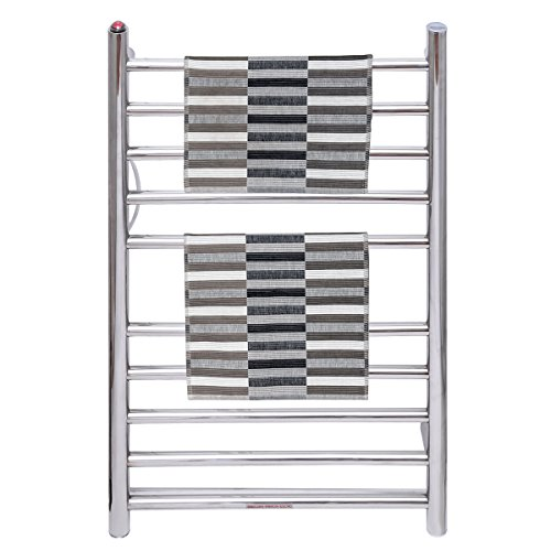 TANGKULA Towel Warmer 10 Bar 80W Home Bathroom Space Saving