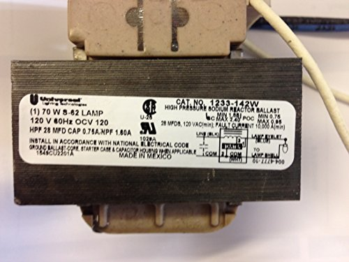 2 PIECES UNIVERSAL LU70 120V INTEGRAL IGNITOR BALLAST 1233-142W FOR 70W S-62 LAMP by MAGNETEK