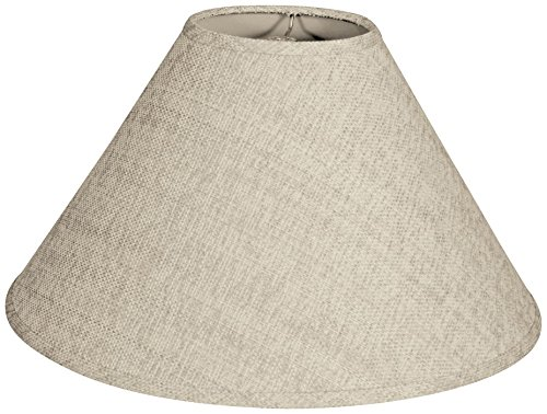 Empire Hardback Lamp Shade, Linen Cream, 6 x 18 x 11.5 (Cream Hardback Shade)
