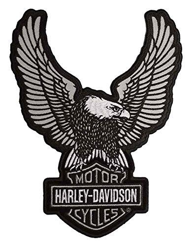 Harley Davidson Wings - Harley-Davidson Embroider Reflective Up-Wing Eagle Emblem, LG 6 x 8 in EM328754