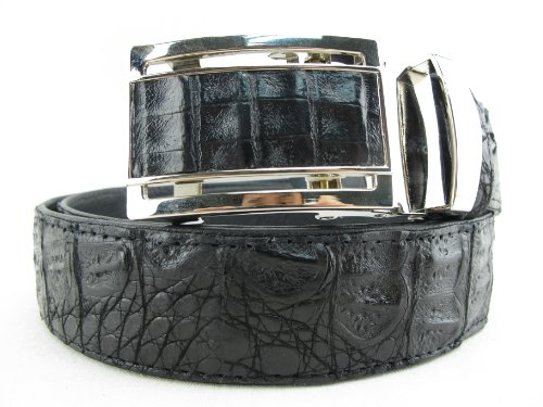 (PELGIO Genuine Crocodile Caiman Skin Men's Belt 46