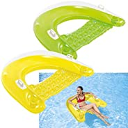 """Intex Sit N Float Inflatable Lounge, 60"""" X 39"""", 1 Pack (Colors"""
