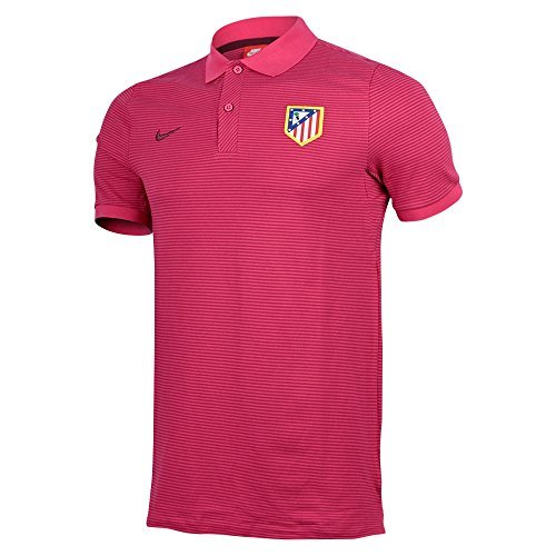 fan products of 2016-2017 Atletico Madrid Nike Authentic League Polo Shirt (Fusc