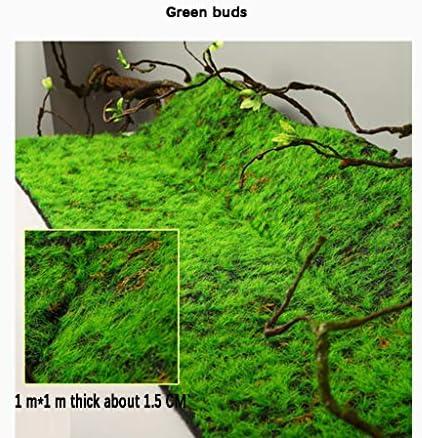 人工芝、緑の人工芝苔3ピースサイズ1 m×1 m背景の壁の装飾 (Size : 4pack)