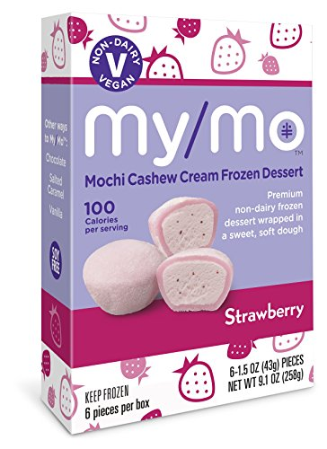 My/Mo Strawberry Mochi Cashew Cream Frozen Dessert (6 x 6ct. boxes) by My/Mo Mochi Ice Cream