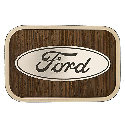 Buckle Barn Brand Ford Logo Walnut Wood Belt Buckle - 7351 (For Ford Belt Men Buckles)